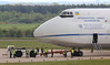 Antonov Airlines An-124, UR-82072 - the tug has now pushed the aircraft back onto the end of 02 runway.<br /> By Jim  Caow.