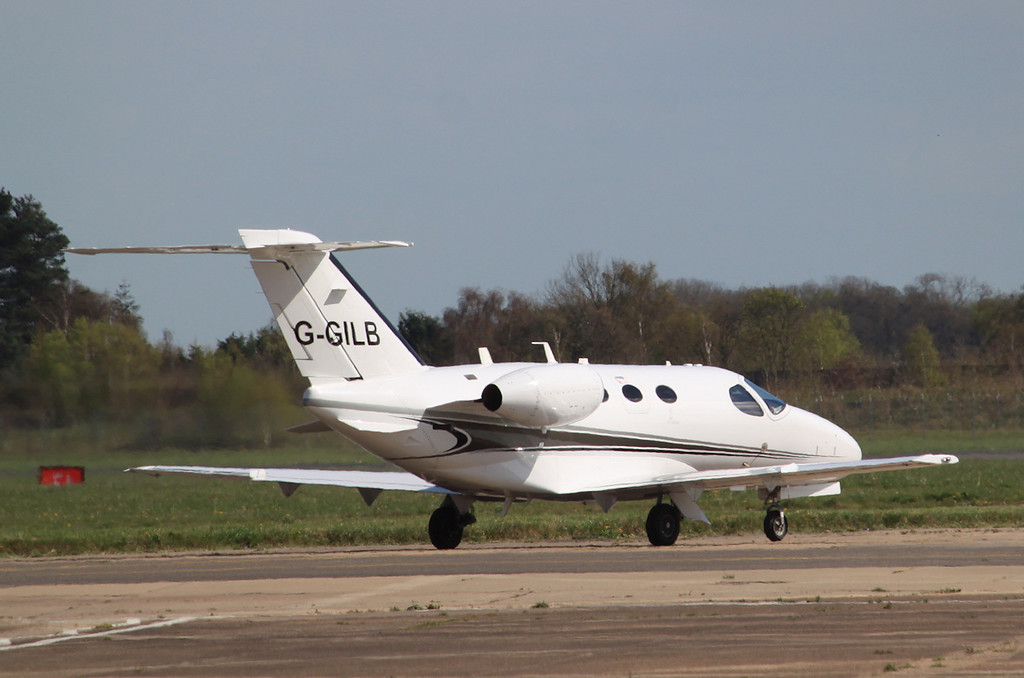 Flairjet Ltd, Cessna 510 Citation Mustang, G-GILB<br /> By Graham Miller.