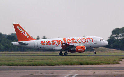 Easyjet A319 G-EZAP was in the circuit for training. By Jim Calow.