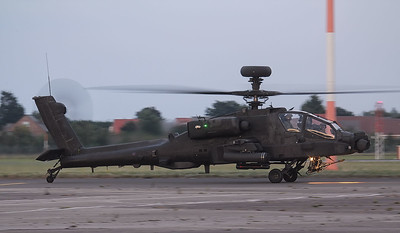 Army Air Corps Apache AH.1 ZJ228 called in late evening for fuel. By Jim Calow.