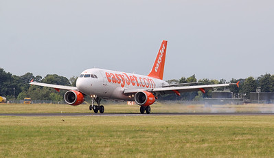 EasyJet A319 G-EZAV kept the controllers busy with over 8hrs in the circuit. By Jim Calow.