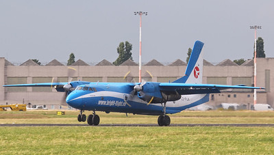 Bright Flight Antonov An-26B LZ-FLA arrived late afternoon. By Jim Calow.