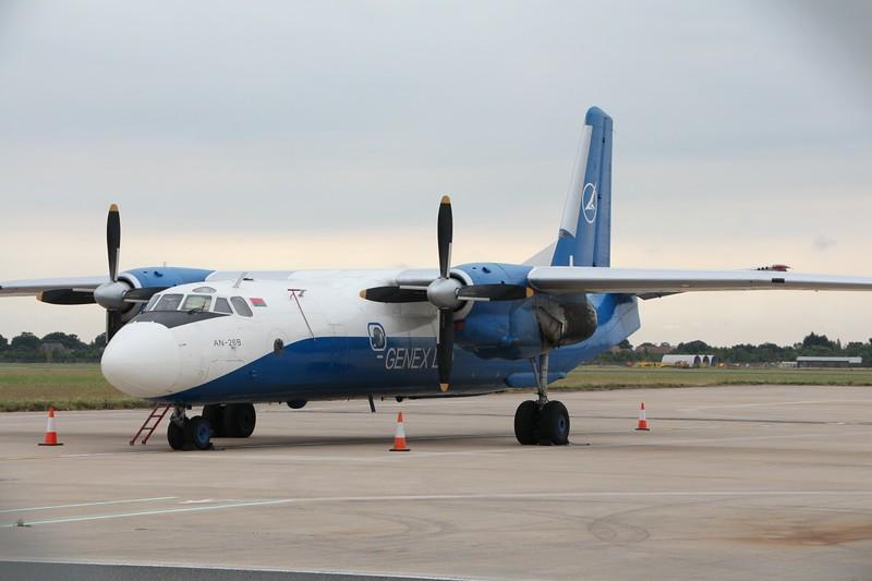 Genex Ltd Antonov An-26B EW-328TG.<br /> By Clive Featherstone.