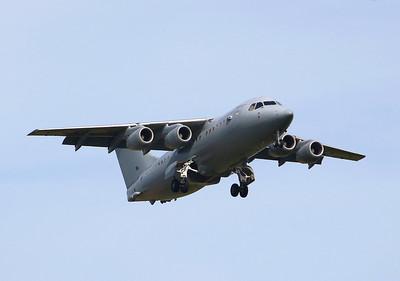 RAF BAe 146-200QC ZE708. By Graham Miller.