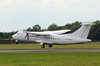 Stobart Air (Danu Oro Transportas) ATR-42 LY-DAT.<br /> By Clive Featherstone.