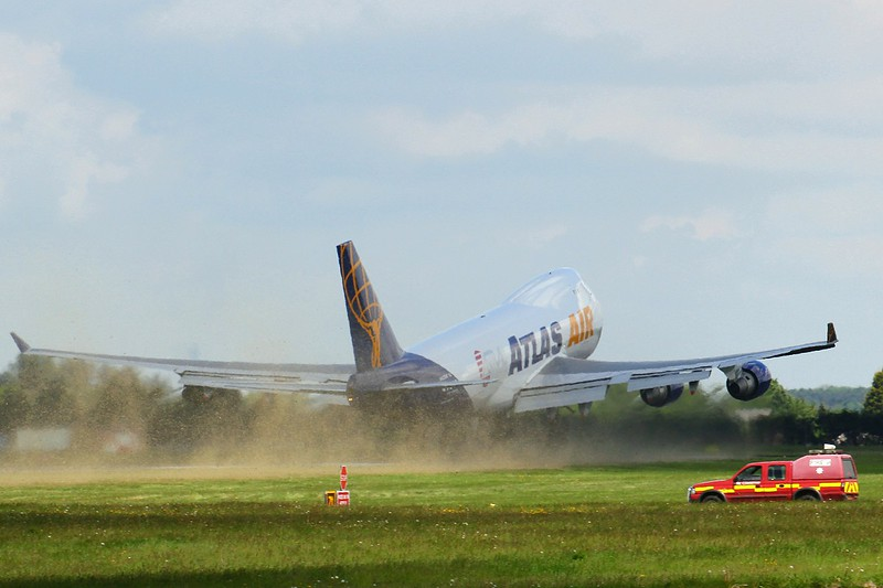 Atlas Air 747-400F N408MC<br /> By Clive Featherstone.
