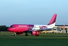Wizz Air, A320, HA-LYE.<br /> By Clive Featherstone.