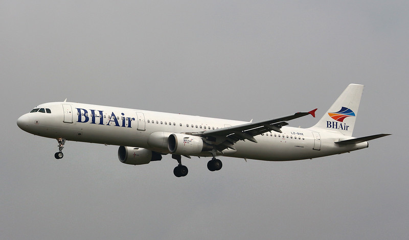 BH Air, A321, LZ-BHK<br /> By Graham Miller.