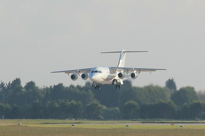 Cityjet, Avro RJ85, EI-RJO arrives empty at 0643 for the annual Lourdes Pilgrimage. By Clive Featherstone.