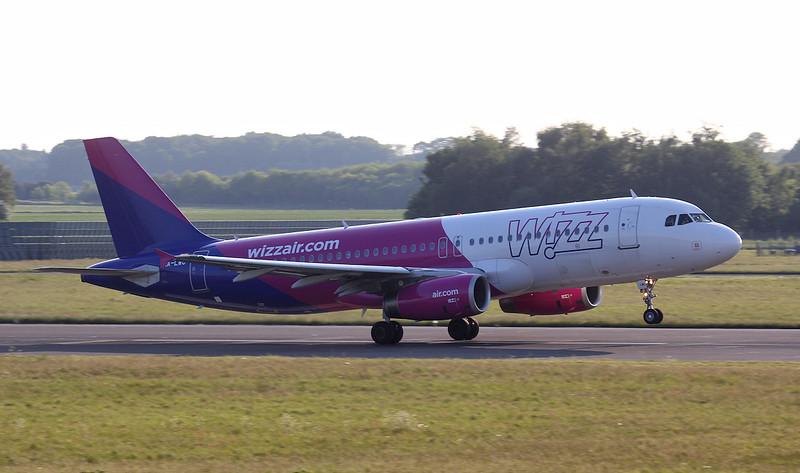 Wizz Air A320 HA-LWC.<br /> By Jim Calow.