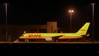 DHL 757-200F G-BMRJ prepares to depart for EMA. By Jim Calow.