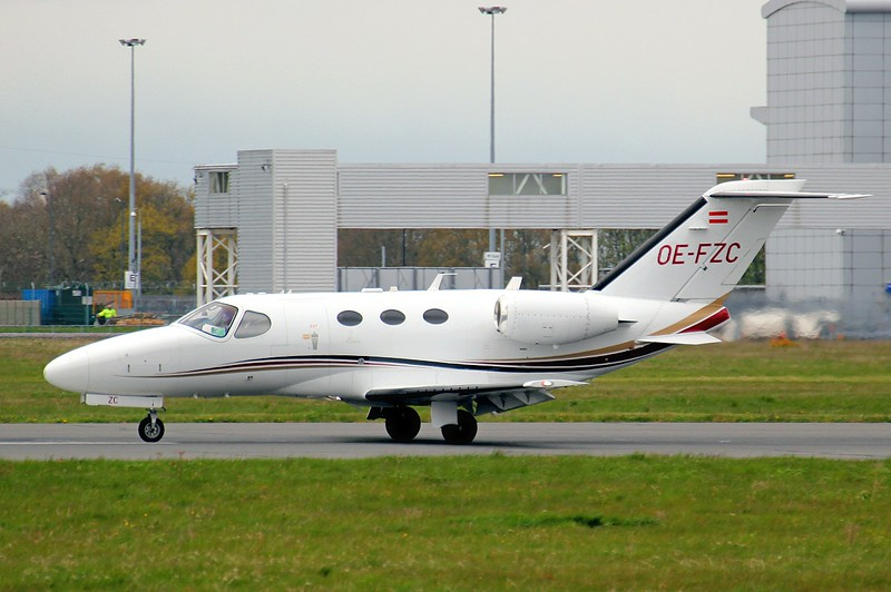 Globe Air Cessna 510 Citation Mustang, OE-FZC<br /> By Clive Featherstone.