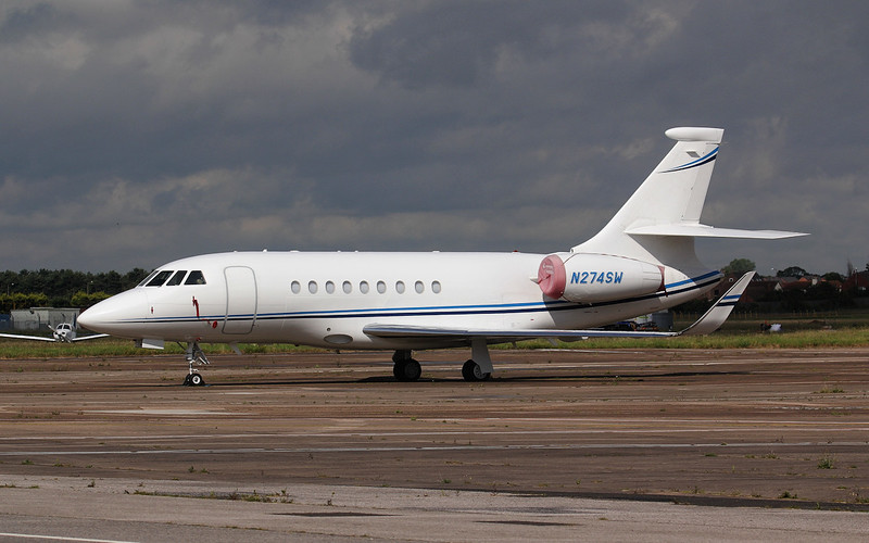 Contract Transportation Systems, Falcon 2000EX, N274SW<br /> By Jim Calow.
