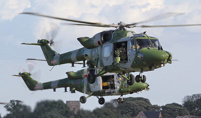 Army Air Corps Lynx AH.9 ZE380 & ZF537. By Jim Calow.