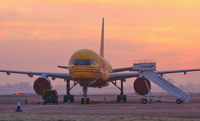 DHL 757-200F G-BRMH. By Correne Calow.