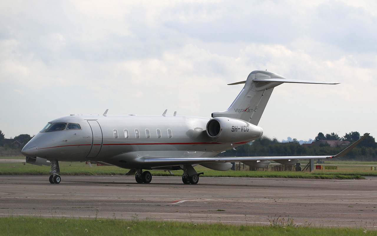 Vista Jet Bombardier Challenger 350 9H-VCG<br /> By Correne Calow.