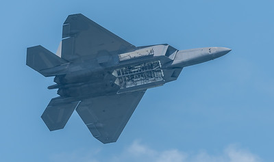 F-22 Raptor from 1st Fighter Wing - missile bay doors open