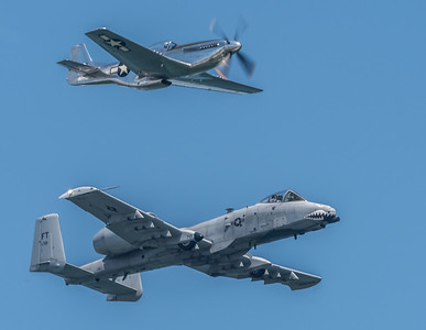 A-10 Warthog and the WW2 era P-51 Mustang