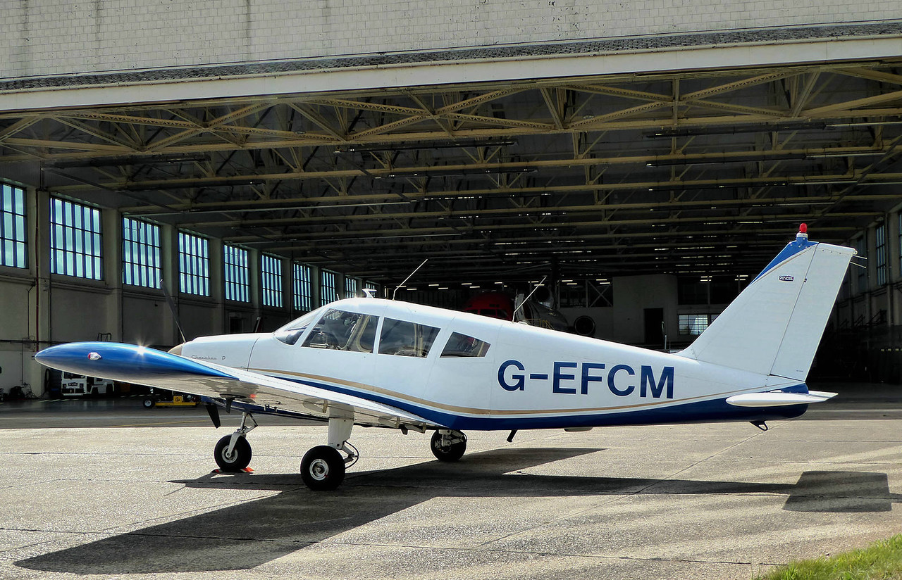 2Excel Aviation, Piper PA-28-160 Cherokee, G-EFCM<br /> By Correne Calow.