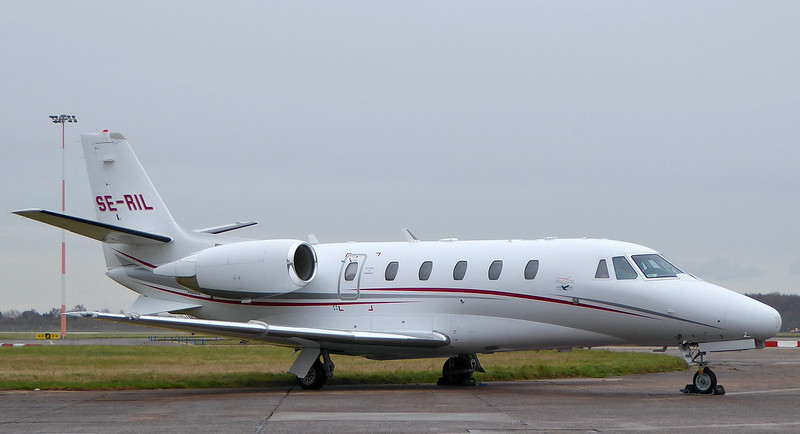 Cessna 560XL Citation XLS,  SE-RIL<br /> By Correne Calow.