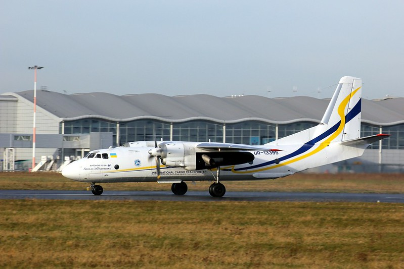 Antonov Airlines, Antonov An-26-100, UR-13395<br /> By Clive Featherstone.