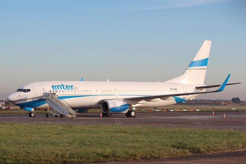 Enter Air, 737-800, SP-ENG<br /> By Grahm Miller.