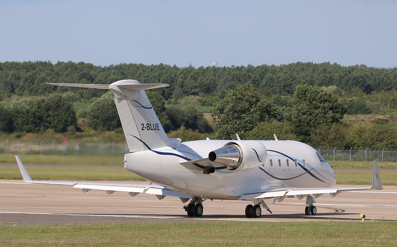 Canadair CL601 Challenger, 2-BLUE - lines up for departure<br /> By Correne Calow.
