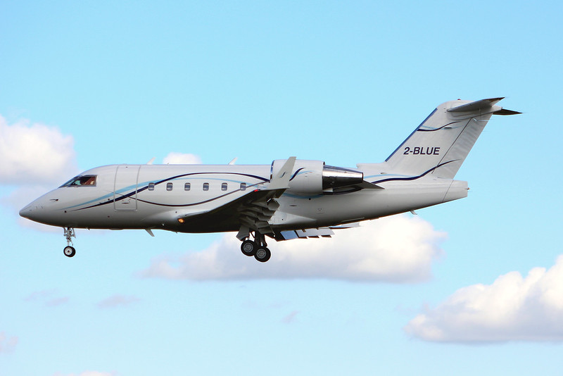 Canadair CL601 Challenger, 2-BLUE - on the Guernsey aircraft register.<br /> By Graham Miller.