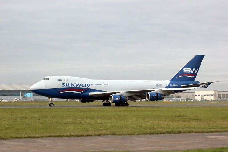 Silk Way West Airlines 747-4R7F 4K-SW008<br /> By Clive Featherstone.