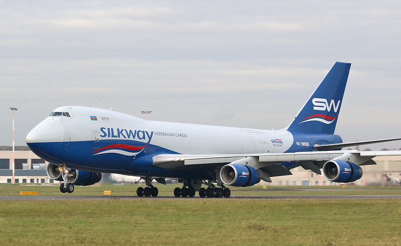 Silk Way West Airlines 747-4R7F 4K-SW008<br /> By Correne Calow.