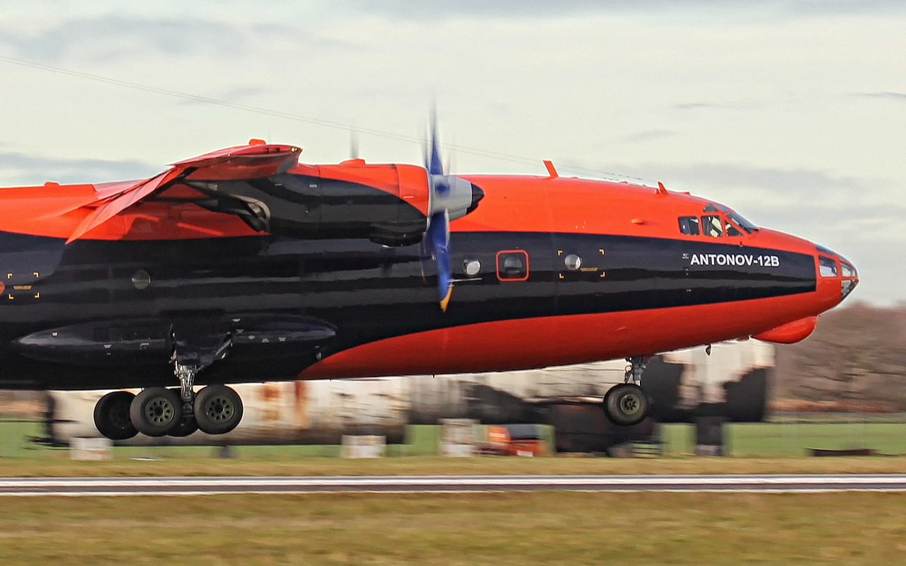 Cavok Airlines Antonov An-12B, UR-CJN<br /> By Jim Calow.