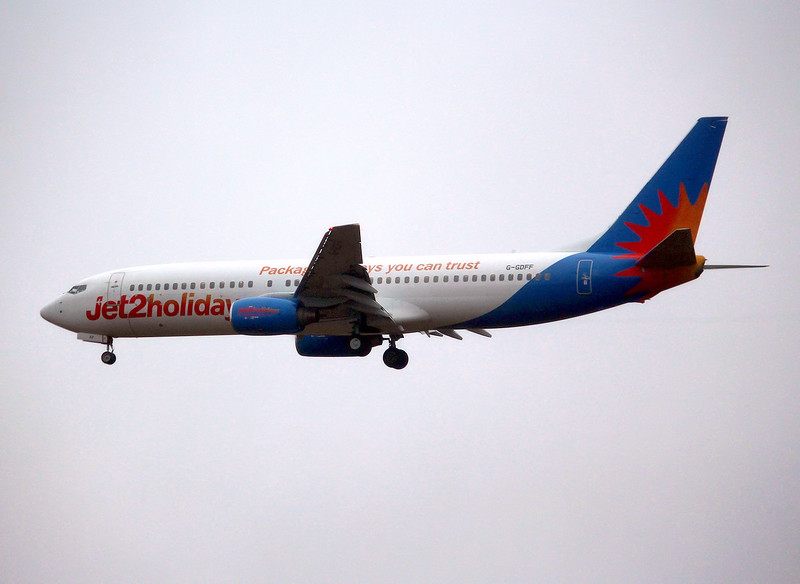 Jet2 Holidays, 737-800, G-GDFF<br /> By Graham Miller.