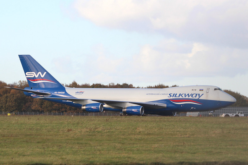 Silkway West Airlines 747-400F 4K-SW008.<br /> By Graham Miller.