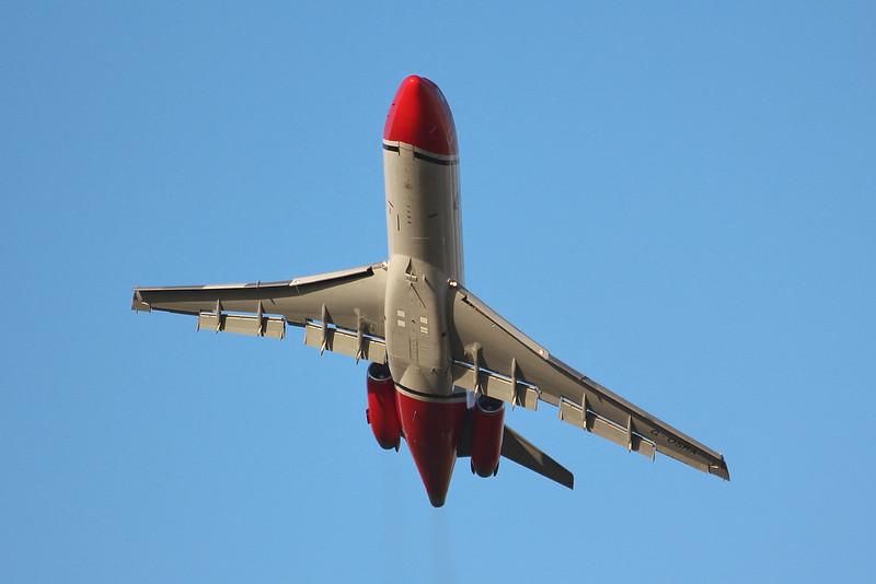 T2 Aviation 727-200F G-OSRA.<br /> By Graham Miller.
