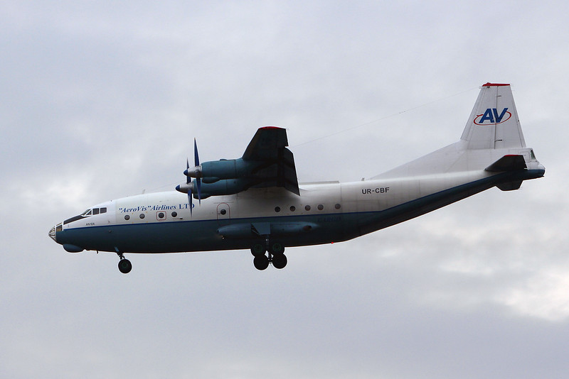 Aerovis Airlines, Antonov An-12-A, UR-CBF<br /> By Graham Miller.