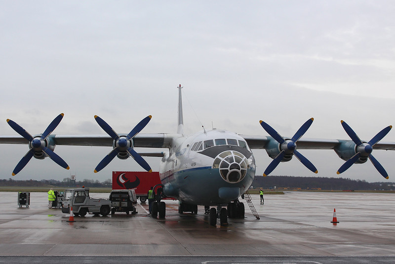 Aerovis Airlines Antonov An-12A UR-CBF<br /> By Graham Miller.
