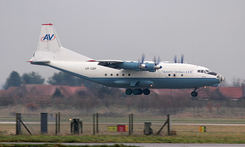 Aerovis  Airlines Antonov An-12A UR-CBF<br /> By Jim Calow.