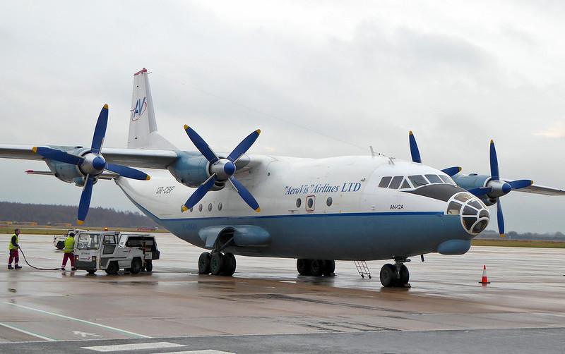 Aerovis Airlines Antonov An-12A UR-CBF<br /> By Correne Calow.
