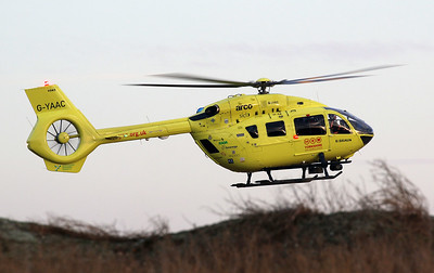 Yorkshire Air Ambulance, Airbus  H145/ EC145T2+, G-YAAC  arriving at Doncaster Moto Parc, Austerfield By Correne Calow.