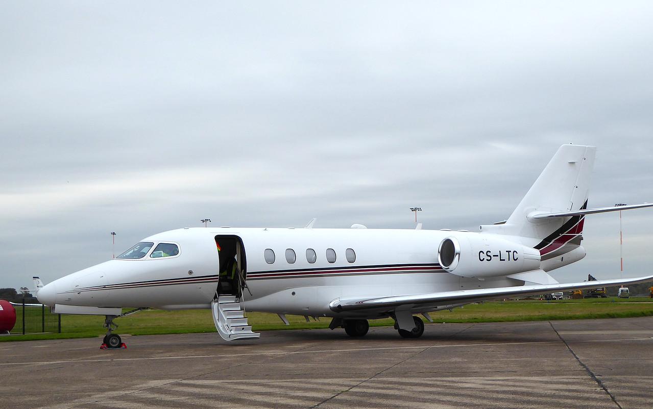 Netjets, Cessna 680A Citation Latitude, CS-LTC<br /> By Correne Calow.