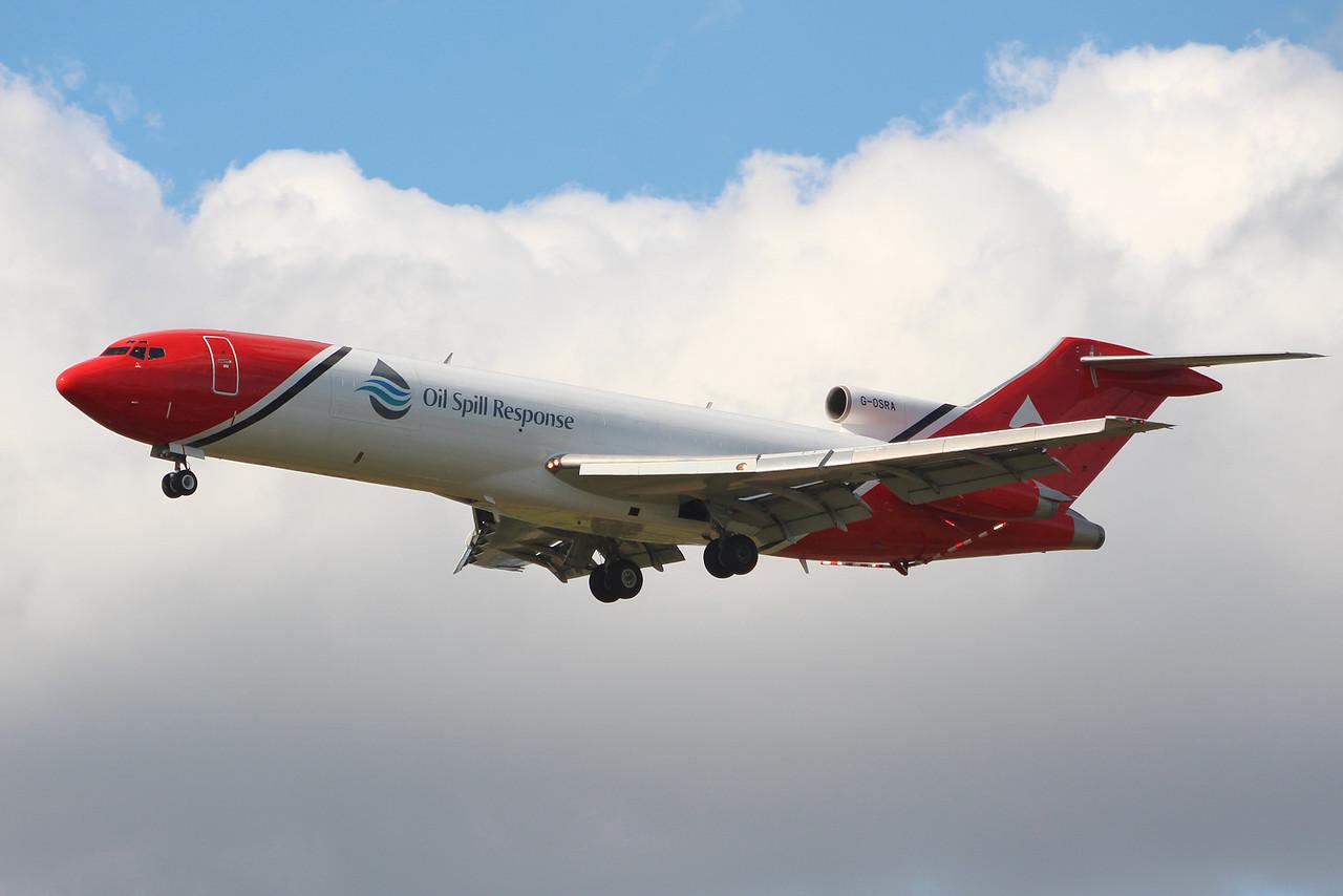T2 Aviation 727-200 G-OSRA.<br /> By Graham Miller.