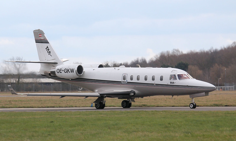Tyrol Air Ambulance,  IAI Gulfstream G100, OE-GKW<br /> By Jim Calow.