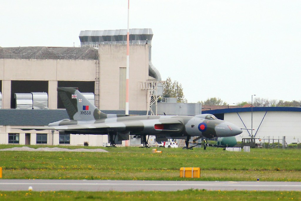 Vulcan B.2 XH558 made a temporary move back into Hangar 3 for the weekend.<br /> By Clive Featherstone.