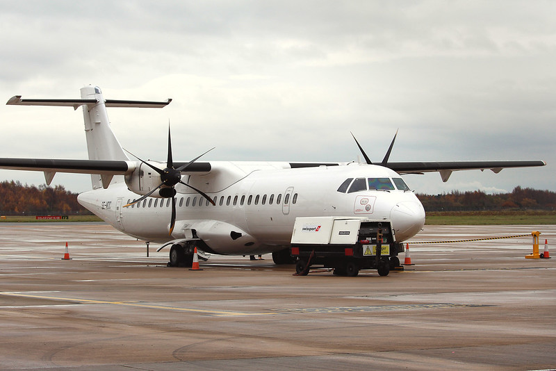 Eastern Airways, ATR-72, SE-MDC<br /> By Graham Miller.