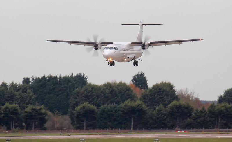Eastern Airways, ATR-72, SE-MDC<br /> By Jim Calow.