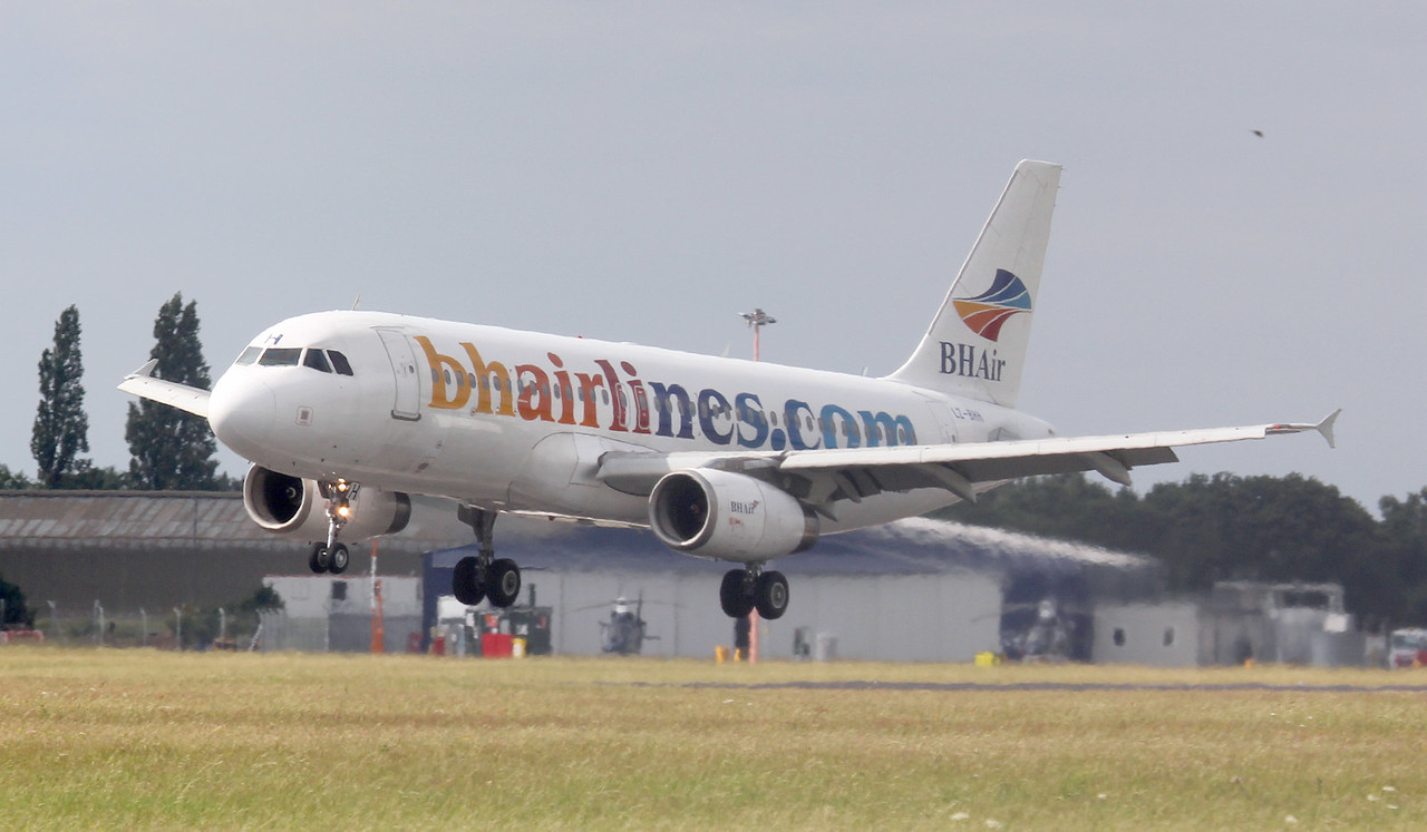 BH Airlines A320 LZ-BHH<br /> By Jim Calow.