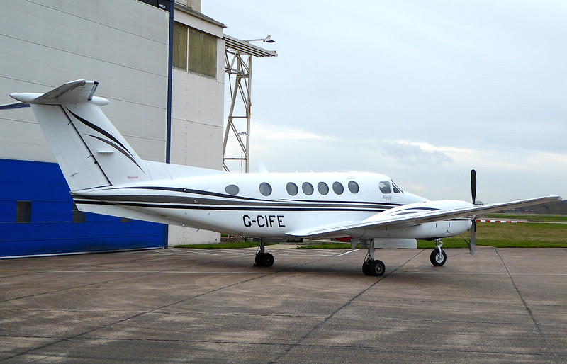 Beech B200 Super King Air G-CIFE (ex ZK450)<br /> By Correne Calow.