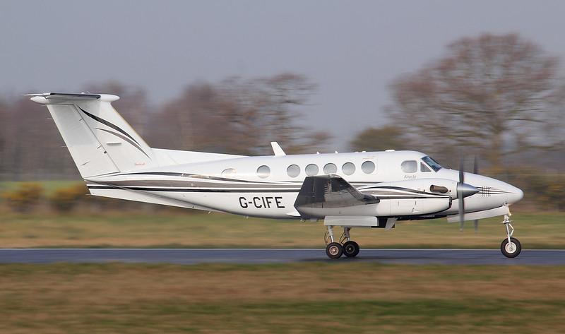 Beech 200 Super King Air G-CIFE.<br /> By Jim Calow.