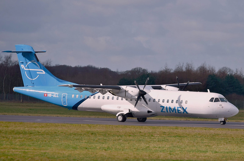 Zimex Aviation, ATR-72-202F, HB-ALL<br /> By Ray Spencer.