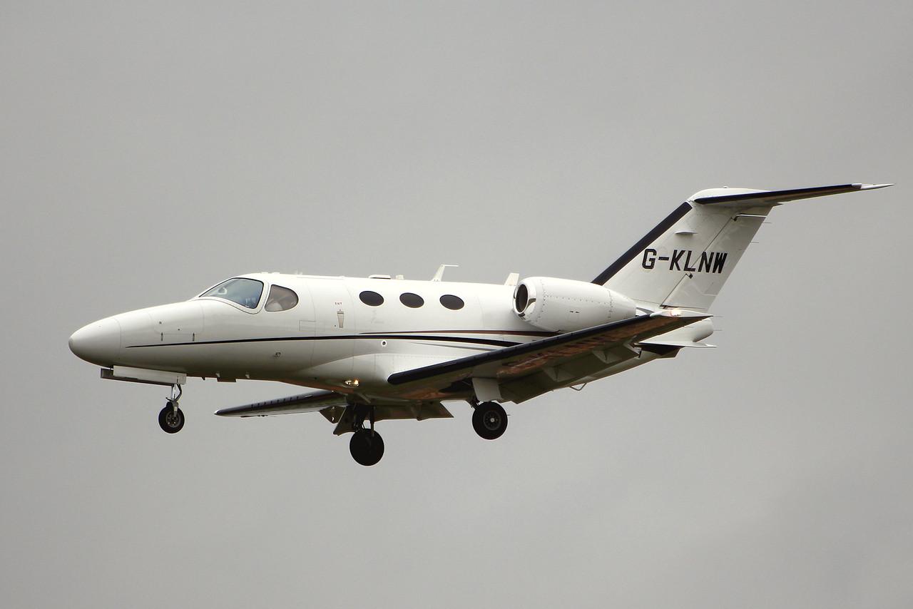 Saxonair Charter Ltd, Cessna 510 Mustang, G-KLNW<br /> By Graham Miller.